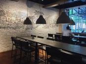 communal tables inside