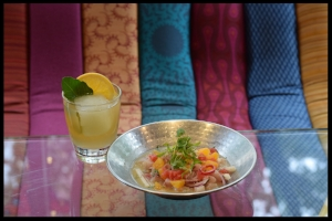 Oyamel's Naranja Tonic with Ceviche Citricos
